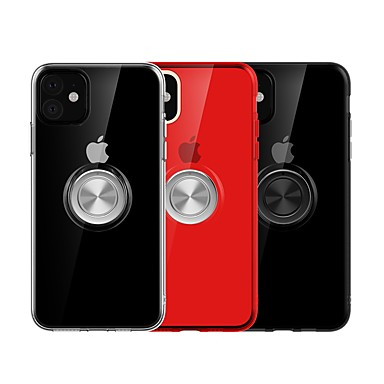 voordelige iPhone 6 Plus hoesjes-hoesje Voor Apple iPhone 11 / iPhone 11 Pro / iPhone 11 Pro Max Ringhouder / Ultradun Achterkant Effen TPU