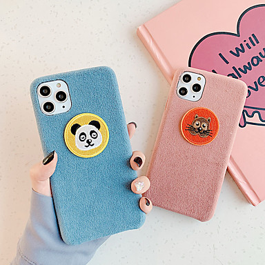 cheap Cell Phone Cases-Case For Apple iPhone 11 / iPhone 11 Pro / iPhone 11 Pro Max Shockproof / Pattern Back Cover Animal / Plush Textile / TPU