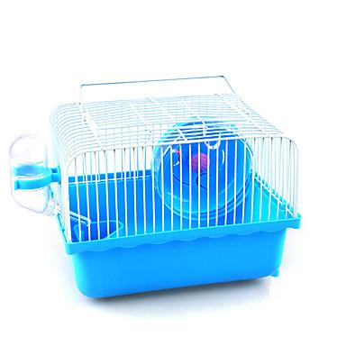 Недорогие Аксессуары для мелких животных-Грызуны Мышь хомяк Клетки Кровати пластик Коричневый Синий Розовый