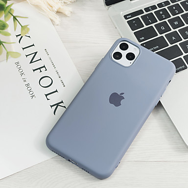 voordelige iPhone-hoesjes-hoesje Voor Apple iPhone 11 / iPhone 11 Pro / iPhone 11 Pro Max Ultradun / Patroon Achterkant Effen silica Gel