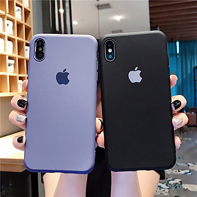 olcso iPhone 7 tokok-Case Kompatibilitás Apple iPhone 11 / iPhone 11 Pro / iPhone 11 Pro Max Ultra-vékeny Fekete tok Egyszínű Silica Gel