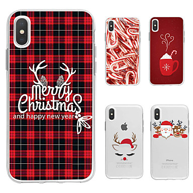 olcso iPhone 5 tokok-Case Kompatibilitás Apple iPhone 11 / iPhone 11 Pro / iPhone 11 Pro Max Minta Fekete tok Állat / Karácsony TPU