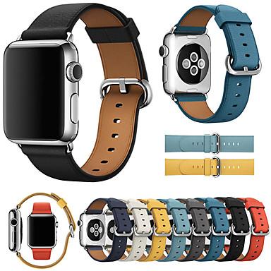 Χαμηλού Κόστους Μπρασελέ για ρολόγια Apple-πολυτελή δερμάτινη ζώνη ρολογιών για σειρά ρολογιών μήλων 5/4/3/2/1 ανταλλακτικό βραχιόλι καρπό ιμάντα βραχιολάκι