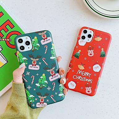 Недорогие Кейсы для iPhone 7-Кейс для Назначение Apple iPhone 11 / iPhone 11 Pro / iPhone 11 Pro Max Защита от пыли / IMD / Ультратонкий Кейс на заднюю панель Мультипликация / Рождество ТПУ
