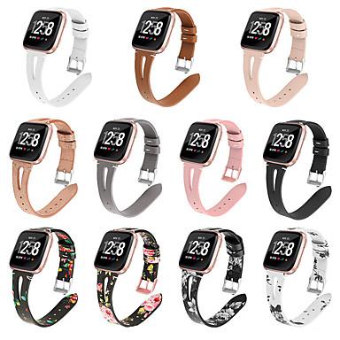 voordelige Smartwatch-accessoires-horlogeband voor fitbit versa / fitbit versa lite / fitbit versa2 fitbit klassieke gesp lederen polsband