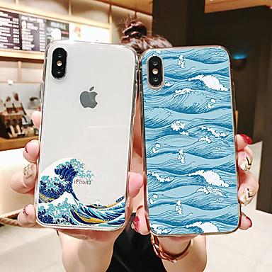 voordelige iPhone 6 Plus hoesjes-hoesje Voor Apple iPhone 11 / iPhone 11 Pro / iPhone 11 Pro Max Patroon Achterkant Transparant / Landschap TPU