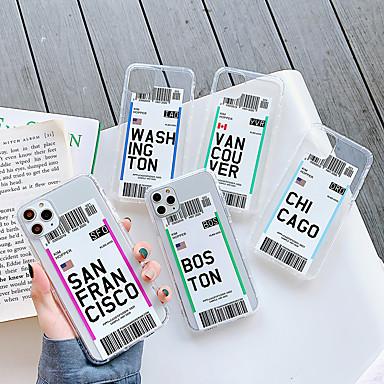 Недорогие Кейсы для iPhone 7-Кейс для Назначение Apple iPhone 11 / iPhone 11 Pro / iPhone 11 Pro Max Защита от удара / Прозрачный / С узором Кейс на заднюю панель Слова / выражения / Прозрачный ТПУ