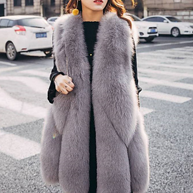 cheap Wedding Wraps-Sleeveless Fox Fur Party / Evening / Office / Career Women's Wrap / Women's Scarves With Fur Vests / Basic
