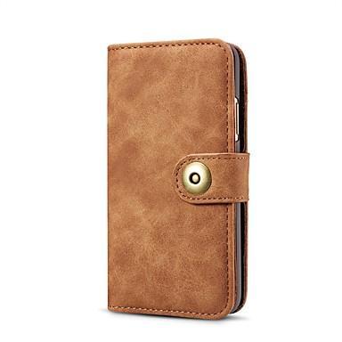 Недорогие Чехлы и кейсы для Galaxy Note-Кейс для Назначение SSamsung Galaxy Note 9 / Note 8 / Samsung Galaxy A40 (2019) Кошелек / Бумажник для карт / Защита от удара Чехол Однотонный Кожа PU