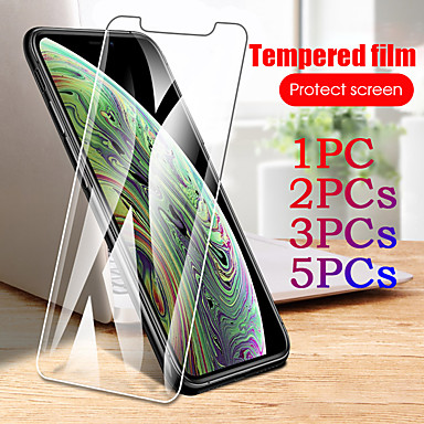billige Skærmbeskyttelse til iPhone-1 stk / 2stk / 3stk / 5stk 9t gennemsigtigt hærdet glas til iphone 11 pro x xr xs max 7 8 6 s plus ultra tynd skærmbeskytter