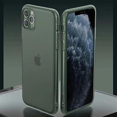 Недорогие Кейсы для iPhone-Кейс для Назначение Apple iPhone 11 / iPhone 11 Pro / iPhone 11 Pro Max Матовое / Полупрозрачный Кейс на заднюю панель Однотонный ТПУ