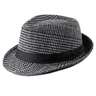 povoljno Muški šeširi-Muškarci Prugasti uzorak Osnovni Poliester-Ribički šešir Jesen Svijetlosiva Braon Tamno siva