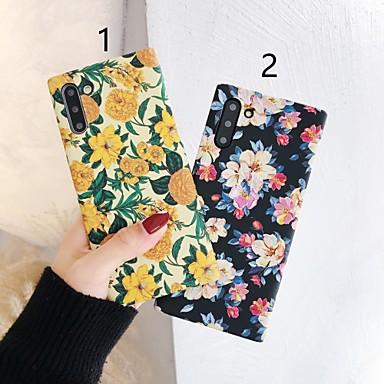 Недорогие Чехлы и кейсы для Galaxy Note-Кейс для Назначение SSamsung Galaxy S9 / S9 Plus / S8 Plus С узором Кейс на заднюю панель Цветы пластик