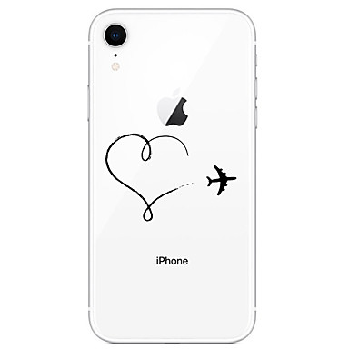 voordelige iPhone-hoesjes-hoesje Voor Apple iPhone 11 / iPhone 11 Pro / iPhone 11 Pro Max Patroon Achterkant Hart / Transparant / Landschap TPU