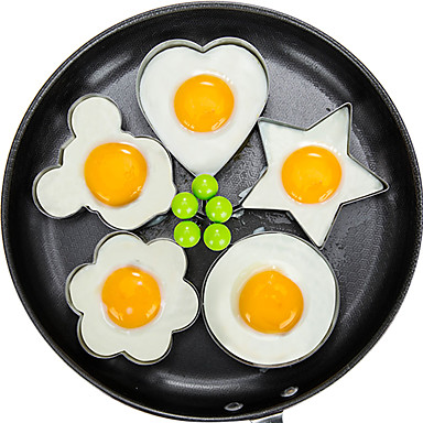 cheap New Arrivals-5pcs/set Fried Egg Pancake Shaper Omelette Mold Mould Frying Egg Cooking Tools Kitchen Accessories Gadget Rings