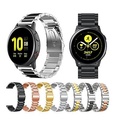 baratos Acessórios para Smartwatch-Pulseira de relógio de aço inoxidável de metal para samsung galaxy watch active 2 / galaxy watch 42mm / gear s2 classic / gear sport pulseira substituível pulseira pulseira