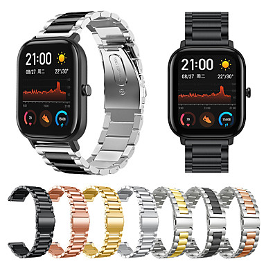 cheap Smartwatch Accessories-Watch Band for Amazfit  GTR  42mm / Amazfit Bip Lite / Amazfit GTS Amazfit Business Band Stainless Steel Wrist Strap