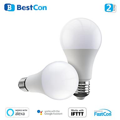 voordelige Slimme woningen-2 pack nieuwe broadlink bestcon smart wifi led lamp lb1 dimmer lamp licht spraakbesturing met alexa en google home