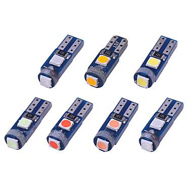 olcso Autó világítás-10db autó t5 led w3w 3smd 3030 műszerfal figyelmeztető jelző ék lámpa izzó canbus auto lámpa led autó belső világítás