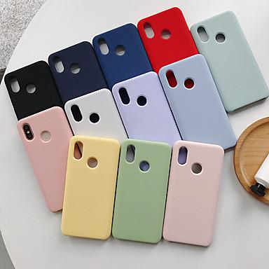 Недорогие Чехлы и кейсы для Xiaomi-Кейс для Назначение Xiaomi Xiaomi Mi Max 3 / Xiaomi Mi 8 / Xiaomi Mi 8 SE Защита от удара Кейс на заднюю панель Однотонный ТПУ