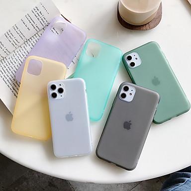 Недорогие Кейсы для iPhone 7-Кейс для Назначение Apple iPhone 11 / iPhone 11 Pro / iPhone 11 Pro Max Защита от пыли Кейс на заднюю панель Однотонный ТПУ