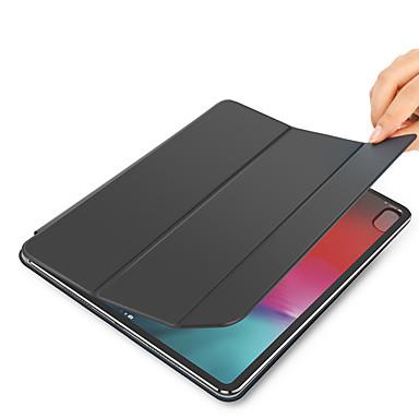 رخيصةأون أغطية أيفون-غطاء من أجل Apple iPad Pro 12.9'' أورجامي / مغناطيس / النوم / الإيقاظ التلقائي غطاء كامل للجسم لون سادة جلد PU