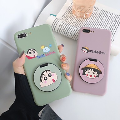 cheap iPhone Cases-Case For Apple iPhone 11 / iPhone 11 Pro / iPhone 11 Pro Max with Stand / Mirror / Frosted Back Cover Cartoon TPU