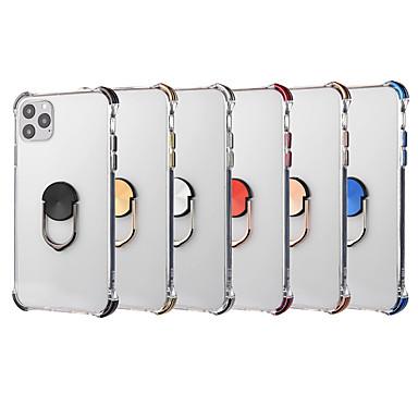 Недорогие Кейсы для iPhone-Кейс для Назначение Apple iPhone 11 / iPhone 11 Pro / iPhone 11 Pro Max Защита от удара / Покрытие / Прозрачный Кейс на заднюю панель Однотонный Акрил
