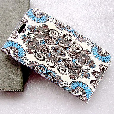 cheap Cell Phone Cases-Case For Samsung Galaxy I9082 / I9060 Palace flower PU Leather with Card Slot Flip up and down  For Galaxy I9082 / I9060
