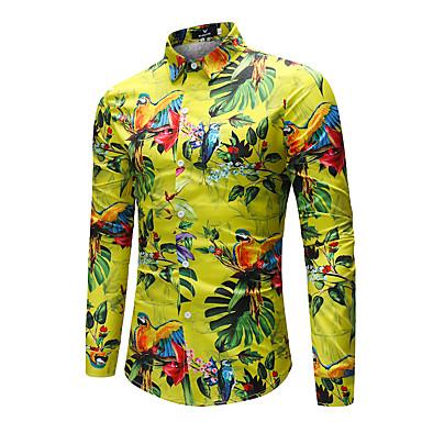 رخيصةأون قمصان رجالي-رجالي أساسي طباعة قميص, هندسي