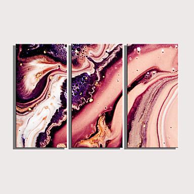 preiswerte Wandkunst-Druck Gerollte Leinwand Aufgespannte Leinwandrucke - Abstrakt Modern Drei Paneele Kunstdrucke