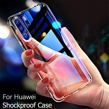 رخيصةأون Huawei أغطية / كفرات-القضية لهواوي زميله 30 / زميله 30 الموالية / زميله 20 الموالية / زميله 20 / زميله 20 لايت / P30 / P20 / P10 صدمات / رقيقة جدا الغطاء الخلفي شفاف tpu