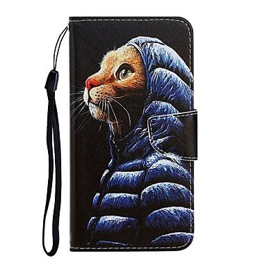 Недорогие Чехлы и кейсы для Xiaomi-чехол для xiaomi redmi 8a / redmi note 7 с подставкой / флип / выкройка / кошелек чехлы для всего тела кошка из искусственной кожи для redmi 8 / redmi note 7 pro / redmi note 8 / redmi note 8 pro /