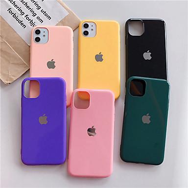 رخيصةأون أغطية أيفون-غطاء من أجل Apple اي فون 11 / iPhone 11 Pro / iPhone 11 Pro Max ضد الغبار غطاء خلفي لون سادة أكريليك