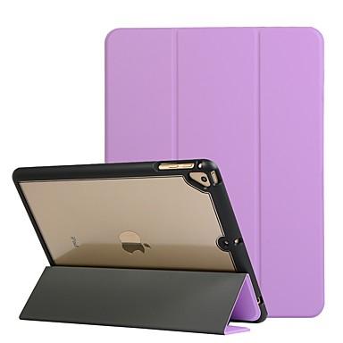 رخيصةأون أغطية أيباد-غطاء من أجل Apple iPad Air / iPad Mini 4 / iPad (2018) ضد الصدمات / مع حامل / قلب غطاء كامل للجسم شفاف / لون سادة جلد PU / TPU