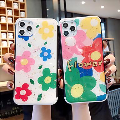 voordelige iPhone-hoesjes-hoesje Voor Apple iPhone 11 / iPhone 11 Pro / iPhone 11 Pro Max Patroon / Glitterglans Achterkant Glitterglans / Bloem PC