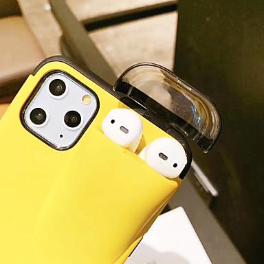 Недорогие Кейсы для iPhone 6-Кейс для Назначение Apple iPhone 11 / iPhone 11 Pro / iPhone XS Защита от удара Кейс на заднюю панель Однотонный силикагель