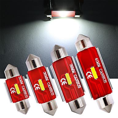 olcso Autó lámpák-4 db c5w feszültség 36mm 31mm 39mm 41mm led izzók canbus 1860 smd fehér lámpa az autó belső részére külső kupola csomagtartó rendszámtábla világítás