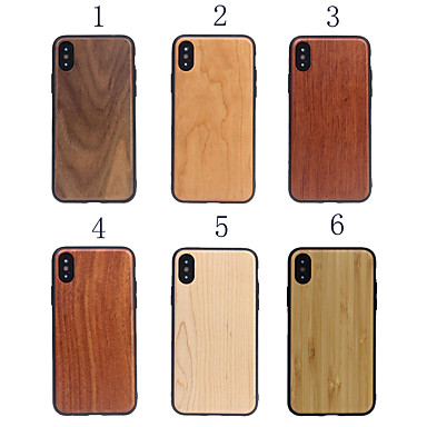 Недорогие Кейсы для iPhone-чехол для iphone 6 / 6s / 6s plus / 7/8 / 7plus / 8plus / iphonex / iphonexs / iphonexr / iphonexs max / iphone 11 pro max / 11/11 pro / 11 pro max деревянный чехол для телефона