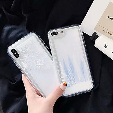 voordelige iPhone-hoesjes-hoesje Voor Apple iPhone XS / iPhone XR / iPhone XS Max Stromende vloeistof Achterkant Glitterglans / Kerstmis TPU / PC