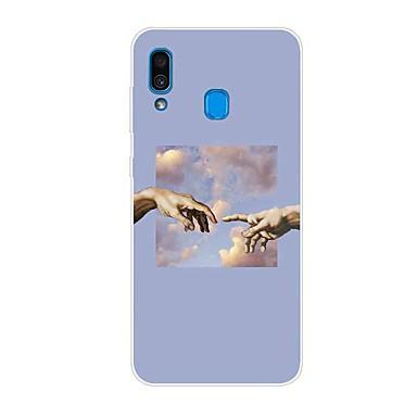 Недорогие Чехлы и кейсы для Galaxy S-Кейс для Назначение SSamsung Galaxy S9 / S9 Plus / S8 Plus С узором Кейс на заднюю панель Мультипликация ТПУ