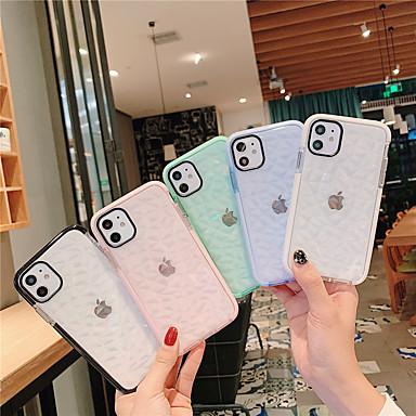 رخيصةأون أغطية أيفون-غطاء من أجل Apple اي فون 11 / iPhone 11 Pro / iPhone 11 Pro Max ضد الغبار / شبه شفّاف غطاء خلفي لون سادة TPU