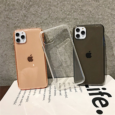billige iPhone-etuier-Etui Til Apple iPhone 11 / iPhone 11 Pro / iPhone 11 Pro Max Gjennomsiktig Bakdeksel Ensfarget TPU
