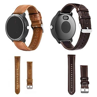 voordelige Smartwatch-accessoires-smartwatch band voor garmin vivoactive 3 / vivoactive 3 muziek lederen lus lederen polsband