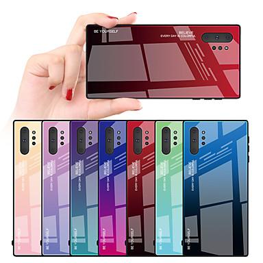 Недорогие Чехлы и кейсы для Galaxy Note-чехол для samsung galaxy s10plus / s10e / s10 / s9 / s9plus / s8plus / s8 / note10 / note10pro / note9 / note8 противоударный / зеркало / ультратонкая задняя крышка с цветным градиентом тпу /