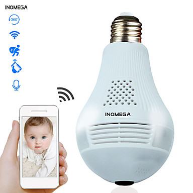 cheap IP Cameras-INQMEGA 960P Cloud Wireless IP Camera Bulb Light Panoramic Home Security Surveillance 360 Degree 3D VR CCTV WIFI Camera