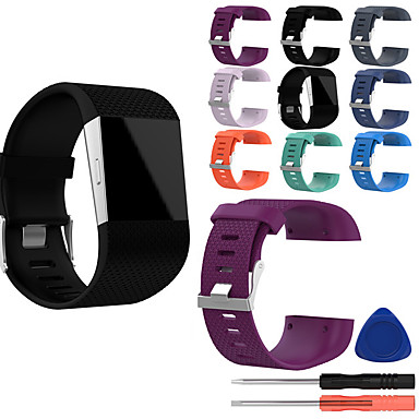 cheap Smartwatch Accessories-Watch Band for Fitbit Surge Fitbit Classic Buckle Silicone Wrist Strap