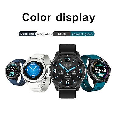 Недорогие Смарт-электроника-Новый S6 Smart Watch браслет круглый экран полный сенсорный большой экран сердечного ритма кровяное давление длительным временем ожидания водонепроницаемый спортивный умный женский физиологический