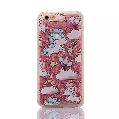 cheap iPhone Cases-Case For Apple iPhone XS / iPhone X / iPhone 8 Plus Shockproof / Flowing Liquid / Pattern Back Cover Cartoon TPU