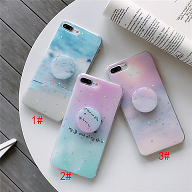 cheap iPhone Cases-Case For Apple iPhone 11 / iPhone 11 Pro / iPhone 11 Pro Max with Stand / Pattern Back Cover Glitter Shine / Marble TPU